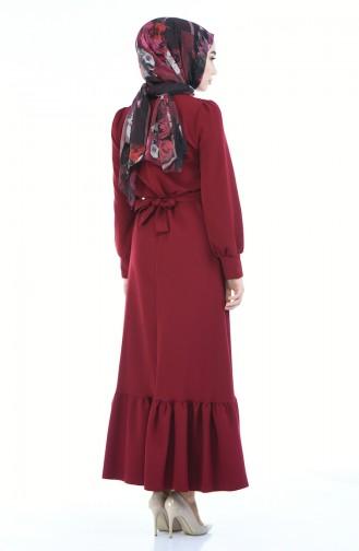 Claret red Dress 2694-06