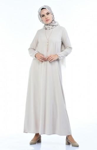 Beige Dress 5256-07