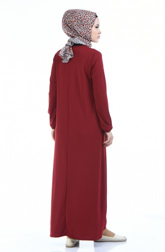 Claret red Dress 5256-08