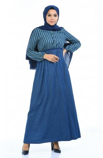 Green Hijab Dress 4076-02