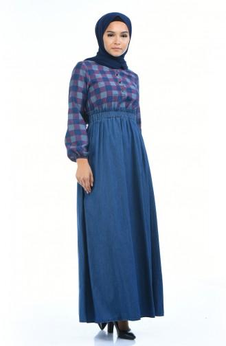 Navy Blue Dress 4076C-01