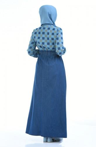 فستان أزرق 4076F-08