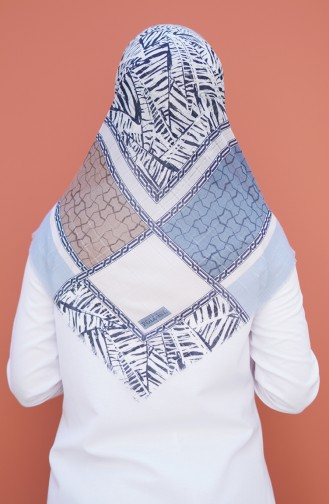 Patterned Woven Scarf Light Blue 2354-12