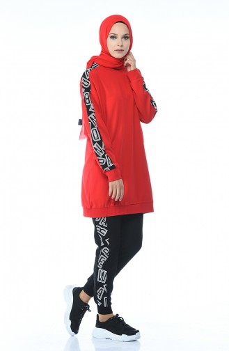 Red Sweatsuit 3476-04