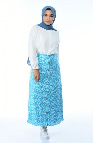Turquoise Skirt 5319-01