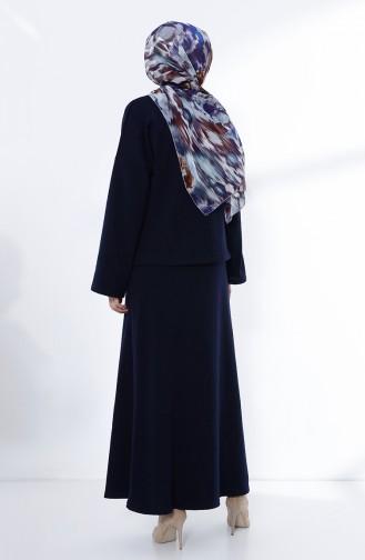 Etek Bluz Triko Takım 3101-05 Lacivert
