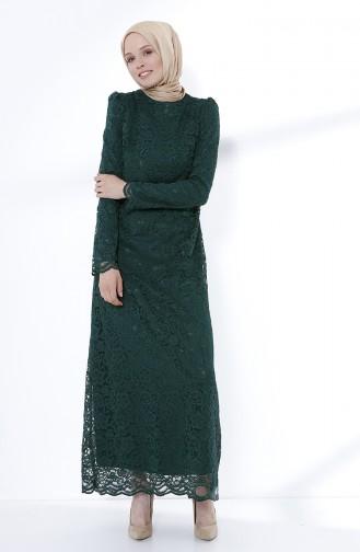 Smaragdgrün Hijab-Abendkleider 9027-03