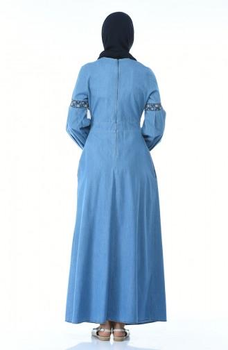 فستان أزرق كحلي 4062-01
