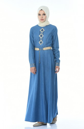فستان أزرق جينز 4075-01