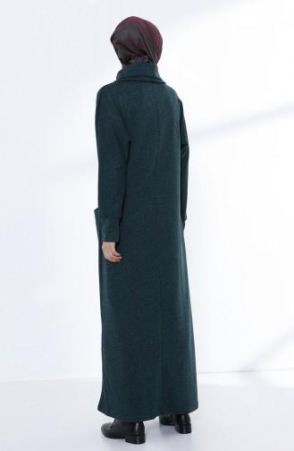 Robe avec Poches 3102-01 Vert emeraude 3102-01