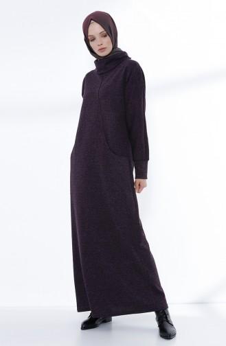فستان ارجواني داكن 3102-02