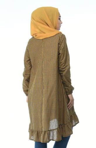 Tunic decorated with a dark yellow color 1288-04