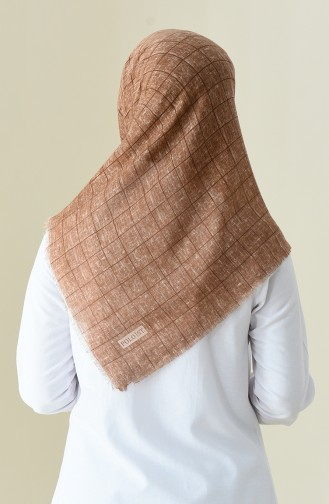 Patterned Season Scarf Light Brown 2356-02