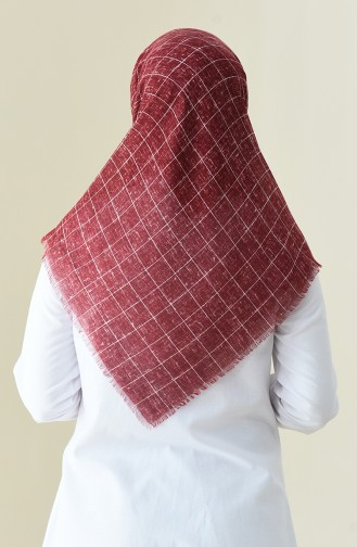 Patterned Season Scarf Claret Red 2356-10