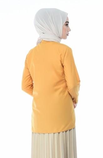 Mustard Overhemdblouse 1013-06