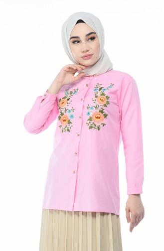قميص وردي 1013-07