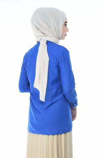 Saks-Blau Hemd 1013-09