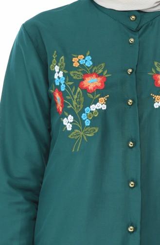 قميص أخضر زمردي 1014-10