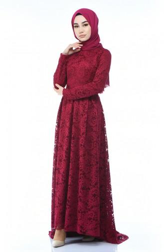 Damson Islamic Clothing Evening Dress 5033-04