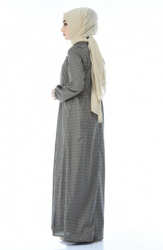Robe a Boutons 1287-06 Brun 1287-06