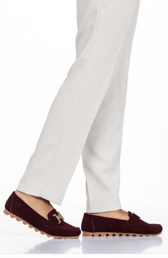 Claret red Woman Flat Shoe 2031-05