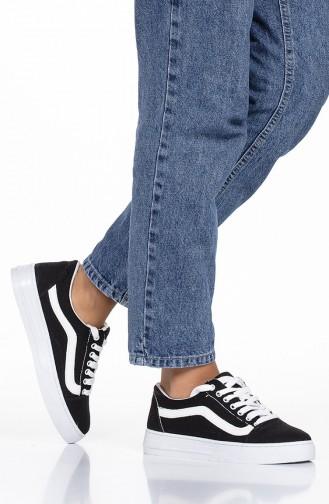 Dame Sneakers Schuhe 2500 Schwarz Weiss 2500