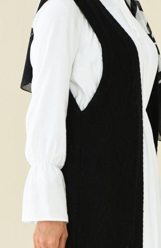 Gilet Long Tricot 8116-03 Noir 8116-03