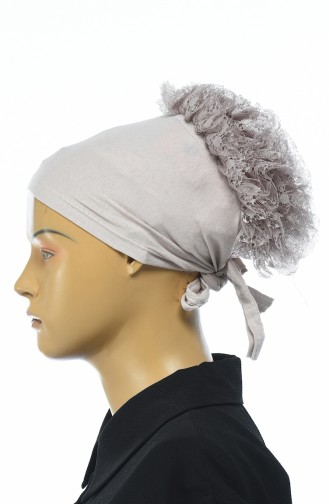 Bonnet mit Volant 7001-13 Nerz 7001-13