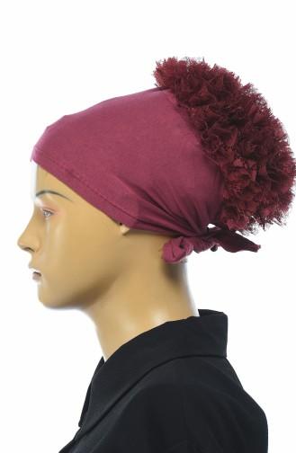 Bonnet a Froufrous 7001-15 Bordeaux Foncé 7001-15