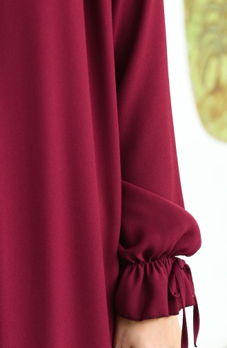 Robe Froncée Manches élastique 8013-05 Bordeaux 8013-05