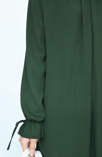 Robe Froncée Manches élastique 8013-02 Khaki 8013-02