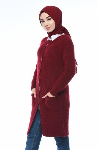 Claret red Vest 4123-06
