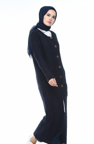 Gilet Long Tricot 1917-05 Bleu Marine 1917-05