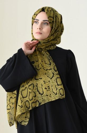 Alisya Châle a Motifs 13111-01 Couleur Saffran 13111-01