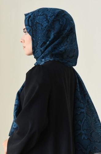 Alisya Châle a Motifs 13111-02 Bleu Pétrol 13111-02