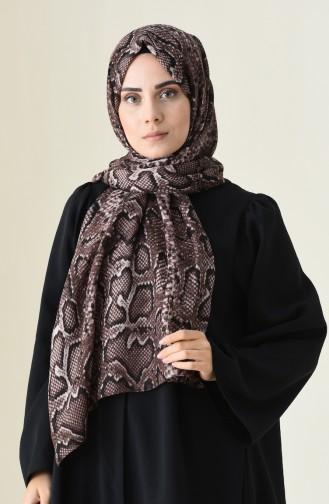 Alisya Châle a Motifs 13111-07 Brun 13111-07