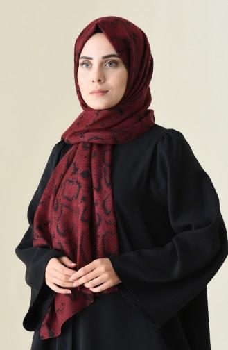 Alisya Châle a Motifs 13111-08 Bordeaux 13111-08