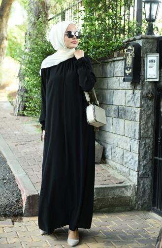 Robe Froncée Manches élastique 8013-03 Noir 8013-03