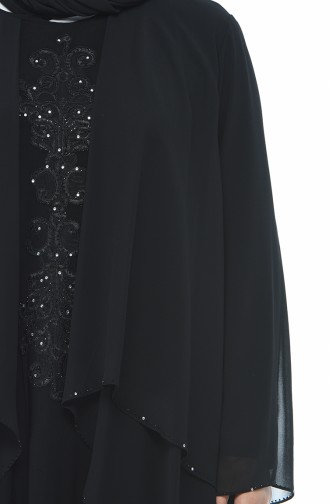 Black Islamic Clothing Evening Dress 0108-05