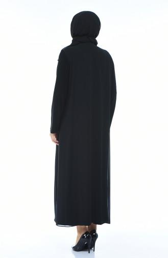 فساتين سهرة بتصميم اسلامي أسود 1012-04