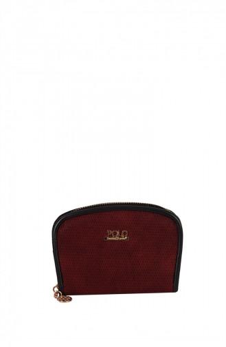 محفظة نقود أحمر كلاريت 1247589004394