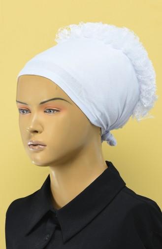 Bonnet a Froufrous 7001-10 Blanc 7001-10
