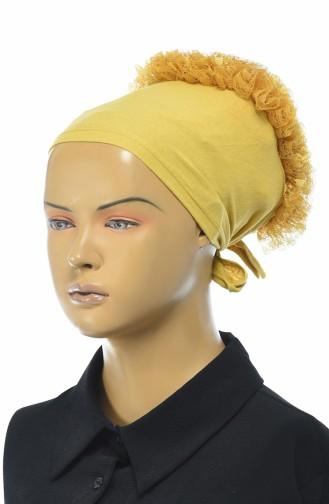 Bonnet a Froufrous 7001-11 Jaune Foncé 7001-11