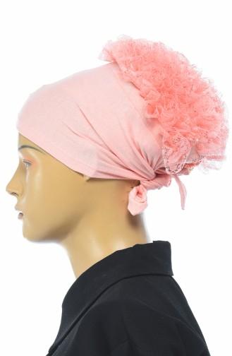 Bonnet mit Volant 7001-16 Lachs 7001-16