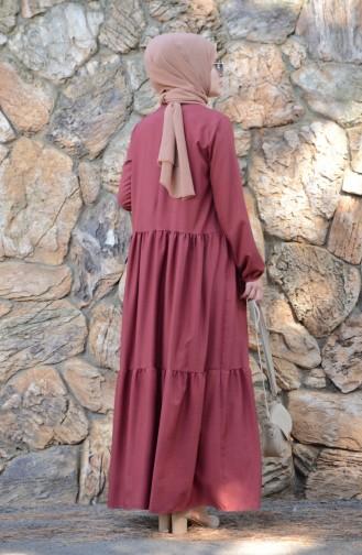 Robe Froncée 8005-03 Bordeaux 8005-03