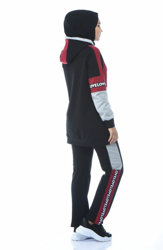 بيجامة الرياضة أحمر كلاريت 1055-03