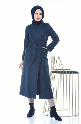 معطف طويل نيلي 5495-04