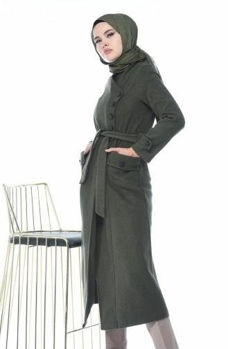 معطف طويل كاكي 5495-05