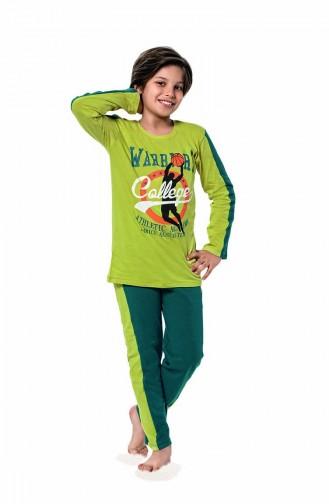 Jungen Langarm Pyjama Set  5118 Pistaziensgrün 5118