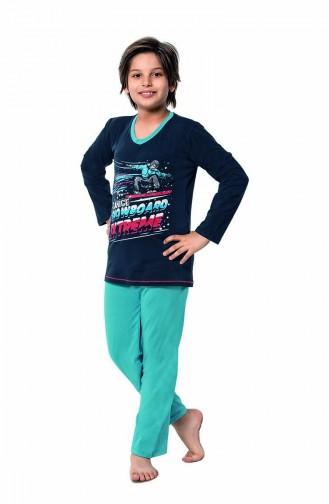 Dunkelblau Kinderpyjama 5120